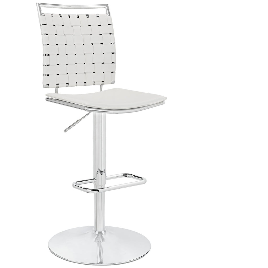 Modway Furniture Fuse Adjustable Armless Modern Bar Stool White, Bar Stools - Modway Furniture, Minimal & Modern - 1