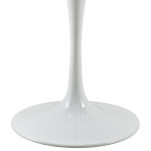 "Modway Furniture Modern Lippa 28"" Wood Top Dining Table in White EEI-1115-WHI-Minimal & Modern"