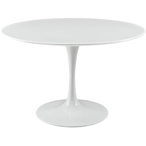 "Modway Furniture Lippa 47"" Wood Top Modern White Dining Table , dining tables - Modway Furniture, Minimal & Modern - 1"