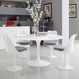 "Modway Furniture Lippa 54"" Wood Top Modern White Dining Table , dining tables - Modway Furniture, Minimal & Modern - 4"