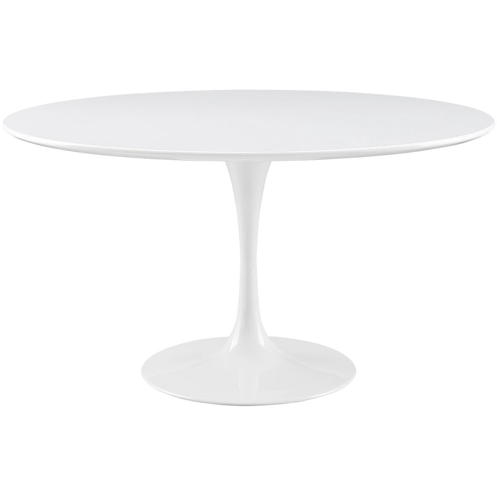 "Modway Furniture Lippa 54"" Wood Top Modern White Dining Table , dining tables - Modway Furniture, Minimal & Modern - 1"