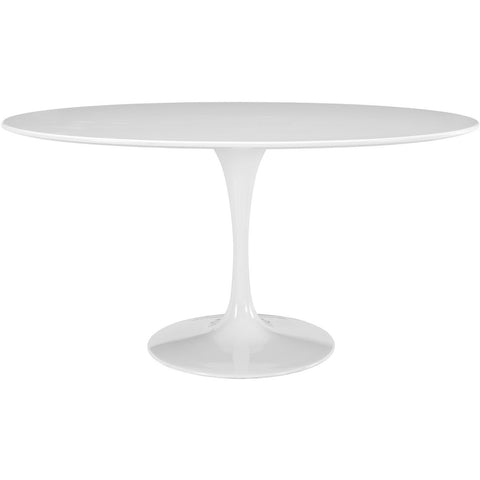 "Modway Furniture Lippa 60"" Oval-Shaped Wood Top Modern White Dining Table , dining tables - Modway Furniture, Minimal & Modern - 1"
