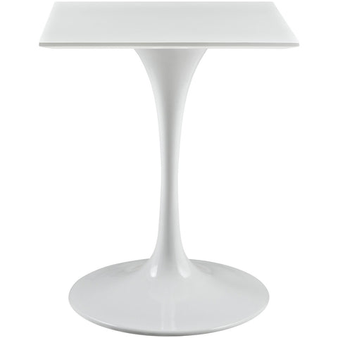"Modway Furniture Lippa 24"" Square Wood Top White Side Table , dining tables - Modway Furniture, Minimal & Modern - 1"