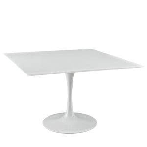 "Modway Furniture Lippa 47"" Square Wood Top Modern White Dining Table EEI-1125-WHI-Minimal & Modern"