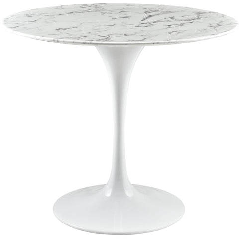 "Modway Furniture Lippa 36"" Artificial Marble Modern White Dining Table , dining tables - Modway Furniture, Minimal & Modern - 1"