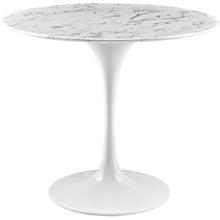 "Modway Furniture Lippa 36"" Artificial Marble Modern White Dining Table EEI-1129-WHI-Minimal & Modern"