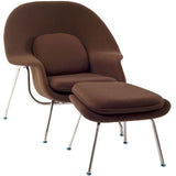 Modway Furniture Modern W Fabric Lounge Chair Dark Brown, Chairs - Modway Furniture, Minimal & Modern - 36