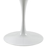 "Modway Furniture Lippa 40"" Artificial Marble Modern White Dining Table , dining tables - Modway Furniture, Minimal & Modern - 3"