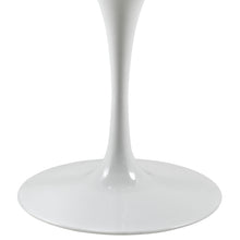 "47"" Artificial Marble Modern White Circular Dining Table , dining tables - Lanna Furniture, Minimal & Modern - 3"