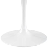 "60"" Artificial Marble Modern White Circular Dining Table , dining tables - Lanna Furniture, Minimal & Modern - 2"