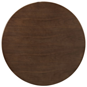 "Modway Furniture Lippa 36"" Modern Walnut Dining Table EEI-1136-WAL-Minimal & Modern"