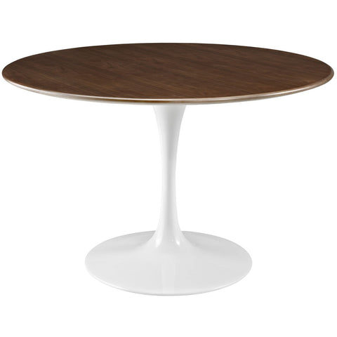 "Modway Furniture Lippa 47"" Modern Walnut Dining Table , dining tables - Modway Furniture, Minimal & Modern - 1"
