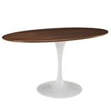 "Modway Furniture Lippa 60"" Oval-Shaped Modern Walnut Dining Table , dining tables - Modway Furniture, Minimal & Modern - 2"