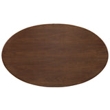 "Modway Furniture Lippa 60"" Oval-Shaped Modern Walnut Dining Table , dining tables - Modway Furniture, Minimal & Modern - 3"