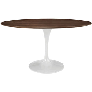 "Modway Furniture Lippa 60"" Oval-Shaped Modern Walnut Dining Table EEI-1138-WAL-Minimal & Modern"