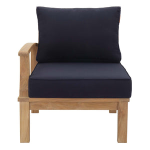 Modway Furniture Modern Marina Outdoor Patio Teak Left-Facing Sofa - EEI-1148