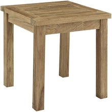 Modway Furniture Modern Marina Outdoor Patio Teak Wood Side Table in Natural EEI-1155-NAT-Minimal & Modern