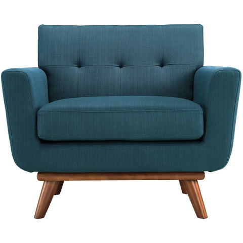 Modway Furniture Modern Engage Upholstered Armchair Azure, Chairs - Modway Furniture, Minimal & Modern - 1