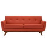 Modway Furniture Engage Upholstered Loveseat Atomic Red, Sofas - Modway Furniture, Minimal & Modern - 37