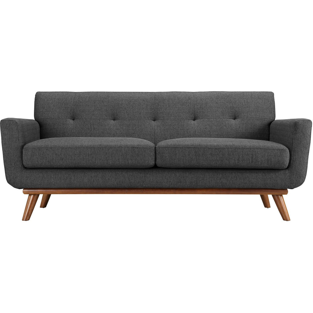 Modway Furniture Engage Upholstered Loveseat Gray, Sofas - Modway Furniture, Minimal & Modern - 1