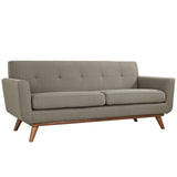 Modway Furniture Engage Upholstered Loveseat Granite, Sofas - Modway Furniture, Minimal & Modern - 25