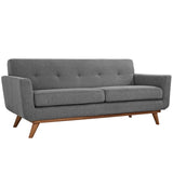 Modway Furniture Engage Upholstered Loveseat Expectation Gray, Sofas - Modway Furniture, Minimal & Modern - 21