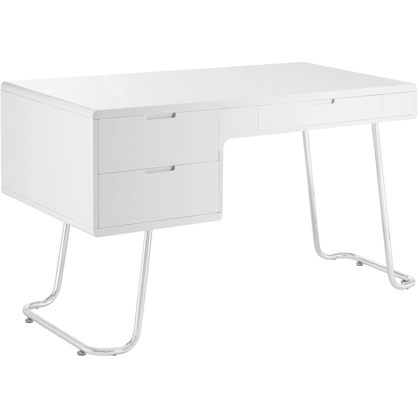 Modway Furniture Modern Contemporary Swing Office Writing White Work Desk-Minimal & Modern