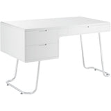 Modway Furniture Modern Contemporary Swing Office Writing White Work Desk - Minimal & Modern - 1