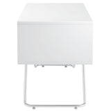 Modway Furniture Modern Contemporary Swing Office Writing White Work Desk - Minimal & Modern - 2