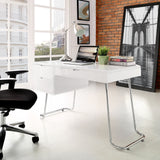 Modway Furniture Modern Contemporary Swing Office Writing White Work Desk - Minimal & Modern - 4