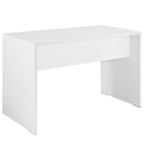 Modway Furniture Modern White Laminate Bridge Office Writing Desk - Minimal & Modern - 3