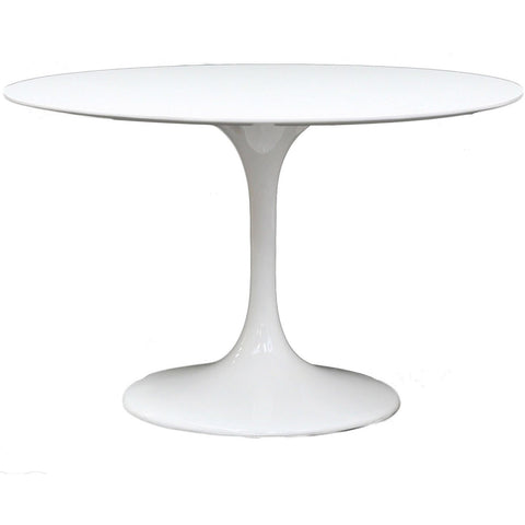 "Modway Furniture Lippa 40"" Fiberglass Modern Dining Table White, dining tables - Modway Furniture, Minimal & Modern - 1"