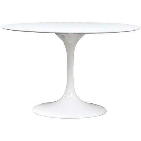 "Modway Furniture Modern Lippa 48"" Fiberglass Dining Table White, Dining Tables - Modway Furniture, Minimal & Modern - 1"