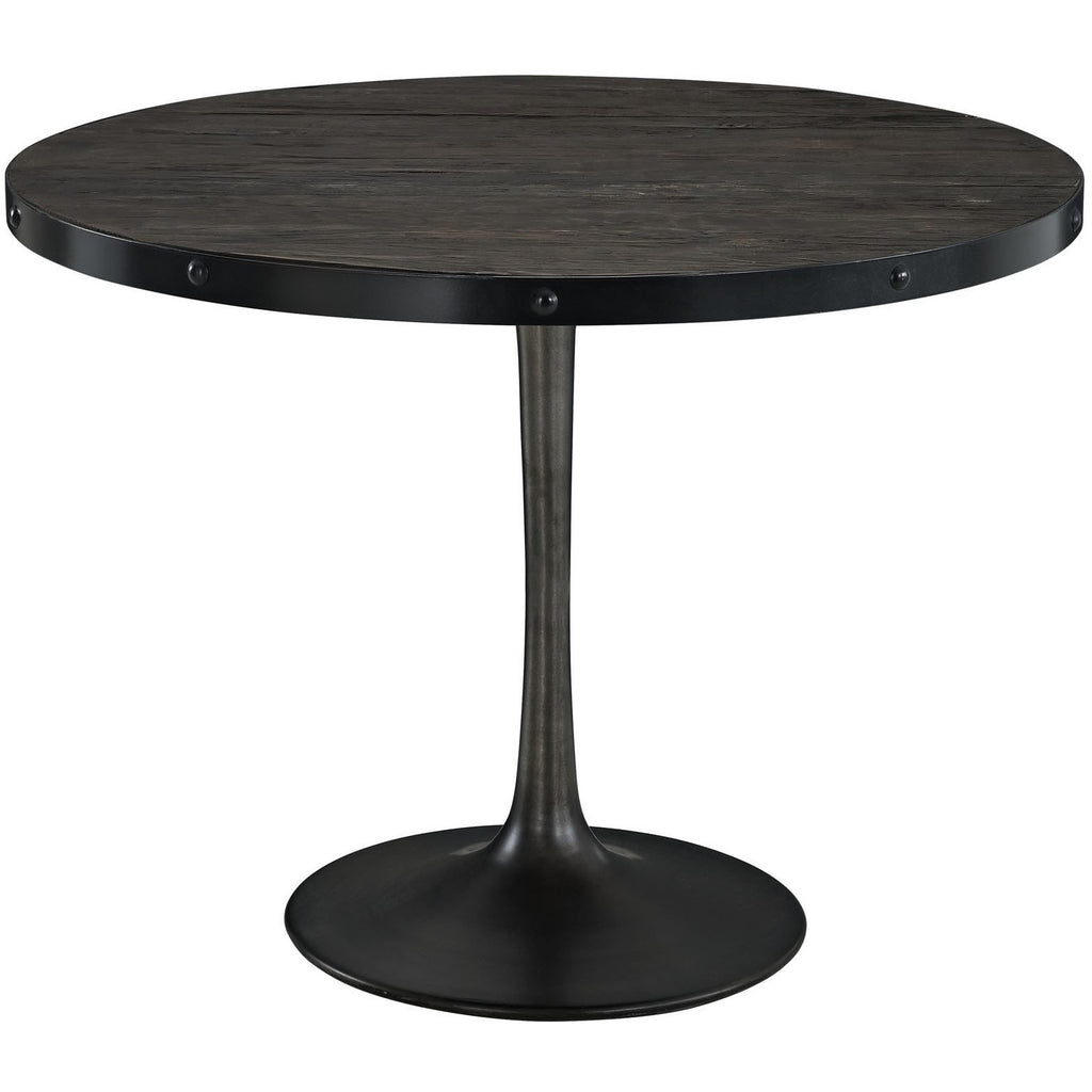 Modway Furniture Drive Wood Top Modern Dining Table Black, dining tables - Modway Furniture, Minimal & Modern - 1