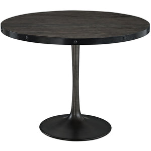 Modway Furniture Drive Wood Top Modern Dining Table EEI-1197-Minimal & Modern
