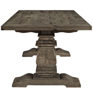 Modway Furniture Column Wood Modern Dining Table EEI-1199-Minimal & Modern