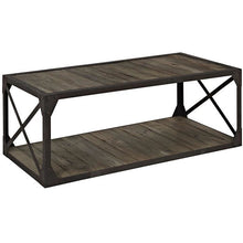 Modway Furniture Modern Industrial Metal and Wood Basic Stand in Brown EEI-1203-BRN-Minimal & Modern