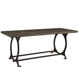 Modway Furniture  Effuse Wood Top Modern Brown Dining Table , dining tables - Modway Furniture, Minimal & Modern - 2