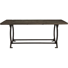 Modway Furniture Effuse Wood Top Modern Brown Dining Table EEI-1205-BRN-Minimal & Modern