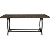 Modway Furniture  Effuse Wood Top Modern Brown Dining Table , dining tables - Modway Furniture, Minimal & Modern - 1