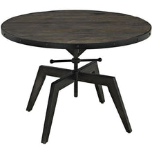 Modway Furniture Industrial Metal Grasp Wood Top Coffee Table in Black EEI-1209-BLK-Minimal & Modern