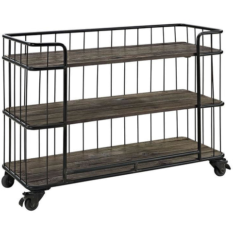 Modway Furniture Modern Cinch Industrial Wood and Metal Storage Stand in Brown , Storage - Modway Furniture, Minimal & Modern - 1
