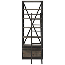 Modway Furniture Modern Velocity Metal & Wood Bookshelf in Brown EEI-1211-BRN-SET-Minimal & Modern