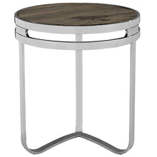 Modway Furniture Modern Provision Stainless Steel & Wood Top Side Table in Brown EEI-1214-BRN-Minimal & Modern