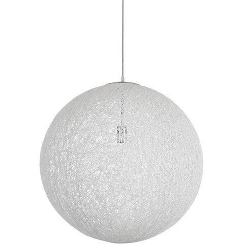 "Modway Furniture Spool 16"" Chandelier White, Lighting - Modway Furniture, Minimal & Modern - 1"