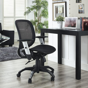 Modway Modern Arillus All Mesh Adjustable Computer Office Chair EEI-1244-BLK-Minimal & Modern