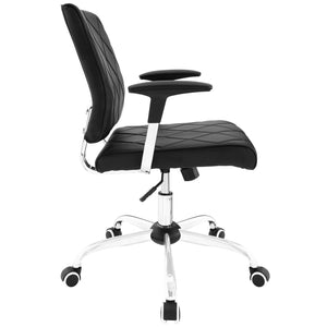 Modway Modern Lattice Vinyl Adjustable Computer Office Chair EEI-1247-Minimal & Modern