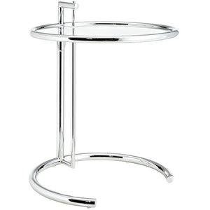 Modway Furniture Modern Eileen Gray Side Table in Silver EEI-125-SLV-Minimal & Modern