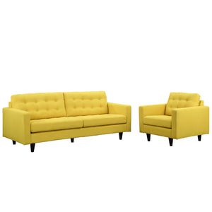 Modway Furniture Modern Empress Armchair and Sofa Set - Minimal and Modern