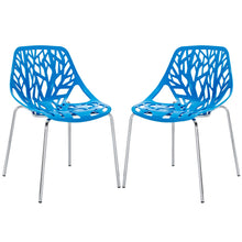 Modway Furniture Modern Stencil Dining Side Chair Plastic Set of 2 - EEI-1317